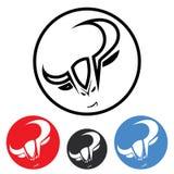 Circle bull emblem stock illustration