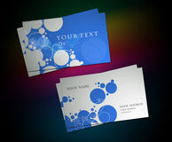 Circle business card set Royalty Free Stock Photography