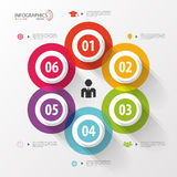 Circle business concept with icons. Infographics. Vector Stock Photos
