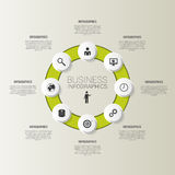 Circle for business concepts with icons. Vector Stock Images