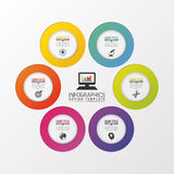 Circle business concepts. Infographic design template. Vector illustration Stock Images