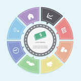 Circle business concepts, Infographics Stock Photography