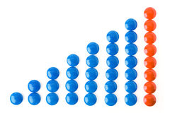 Circle business graph Stock Image