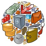 Circle of business icons Royalty Free Stock Photos