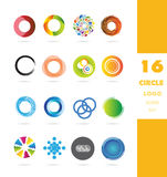 Circle business logo icon set Royalty Free Stock Images