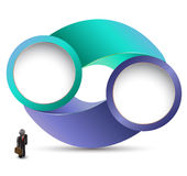 Circle with business man Stock Photo