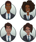 Circle business team icons set in flat style Stock Photography