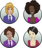 Circle business team icons set in flat style Royalty Free Stock Images