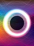 Circle button colorful line Royalty Free Stock Images