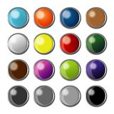 Buttons for applications, software, websites with full color options vector illustration
