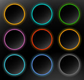 Circle buttons, badges. Button backgrounds with dark blank space Royalty Free Stock Image