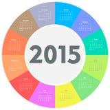 Circle calendar for 2015 year Stock Photo