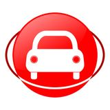 Circle car vector illustration, Red icon. Red icon, circle car vector illustration, vector icon Stock Illustration
