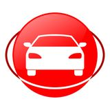 Circle car vector illustration, Red icon. Red icon, circle car vector illustration, vector icon Vector Illustration