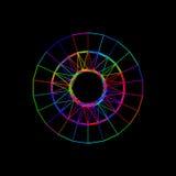 Circle carcass framework. Isolated on black background. Vector c. Circle carcass framework. Isolated on black background.Vector colorful illustration Stock Photography