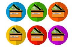 Circle Card Icons royalty free stock image