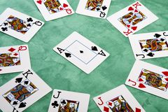 Circle of cards Royalty Free Stock Photo