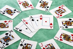 Circle of cards Royalty Free Stock Photos
