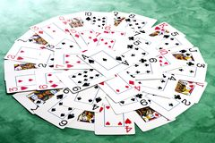 Circle of cards Stock Image