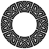 Circle celtic frame Stock Photo