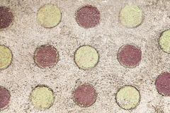 Circle on cement floor. Color circle on cement floor Stock Photos