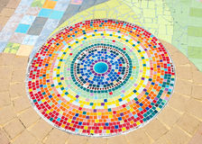 Circle ceramic tile Royalty Free Stock Photo
