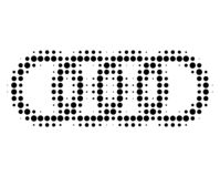 Circle Chain Halftone Dotted Icon vector illustration