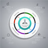 Circle chart layer infographic design, for presentation business. Abstract modern 3d leaf concept idea infographic. Can used for presentation, data diagram and Royalty Free Stock Images