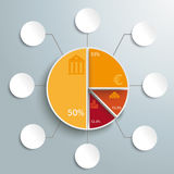 Circle Chart 8 Options Royalty Free Stock Images