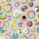 Circle chart seamless pattern Royalty Free Stock Photography