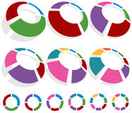 Circle Chart Set Stock Images