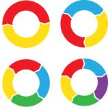 Circle chart set color. Abstract circle bars different colors on white. eps10 Royalty Free Stock Photography