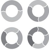 Circle chart set gray Stock Photos