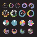 Circle chart templates collection Stock Image