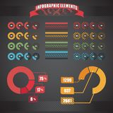 Circle chart templates collection stock illustration
