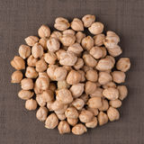 Circle of chickpeas Stock Photos