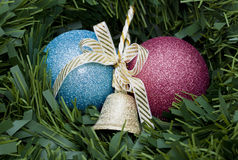 Circle of Christmas decorations Stock Image