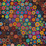 Circle circle colorful seamless pattern. Illustration design circle colorful seamless pattern bright color background graphic element Stock Photo