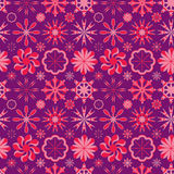 Circle Circus Style Seamless Pattern_eps. Illustration of circus colors and style seamless pattern on purple background Stock Image