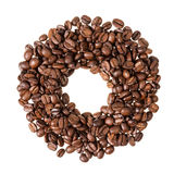 Circle from coffee beans Stock Image