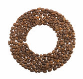 Circle of coffee beans Royalty Free Stock Photography