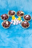 Easter Eggs Cakes and Chicks Stock Images