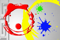 Circle Color Abstract Background Stock Image
