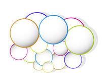 Circle color banner Royalty Free Stock Photo