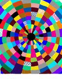 Circle of color royalty free stock photo