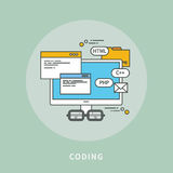 Circle color line flat design of coding, modern  illustration Royalty Free Stock Images