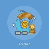 Circle color line flat design of revenue, modern  illustration Royalty Free Stock Images
