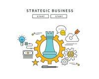 Circle color line flat design of strategic business, modern  illustration Royalty Free Stock Photo