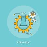 Circle color line flat design of strategic business, modern  illustration Stock Images