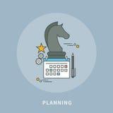 Circle color line flat design of strategic planning, modern  illustration Stock Images